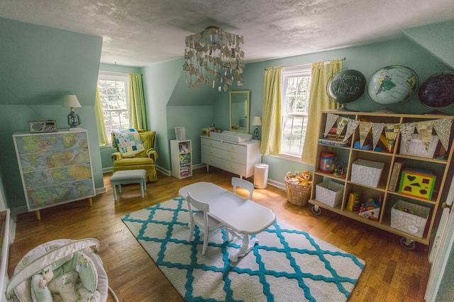 Wie aus dem Bilderbuch: Das Paradebeispiel für die gelungene Nutzung von Pastellfarben im Kinderzimmer. (Bild: Brian Wolfe via flickr)