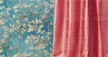 Leuchtende Pastell Farben wirken immer frisch und belebend. Der Vorhang aus echter indischer Seide ist ein Hingucker!
