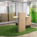 Teppich Blattform grün - Trebes Raumausstattung