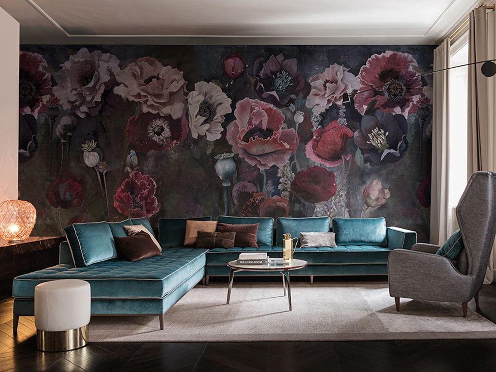 tapeten farben und wandgestaltung trebes raumausstattung und inneneinrichtung. Black Bedroom Furniture Sets. Home Design Ideas