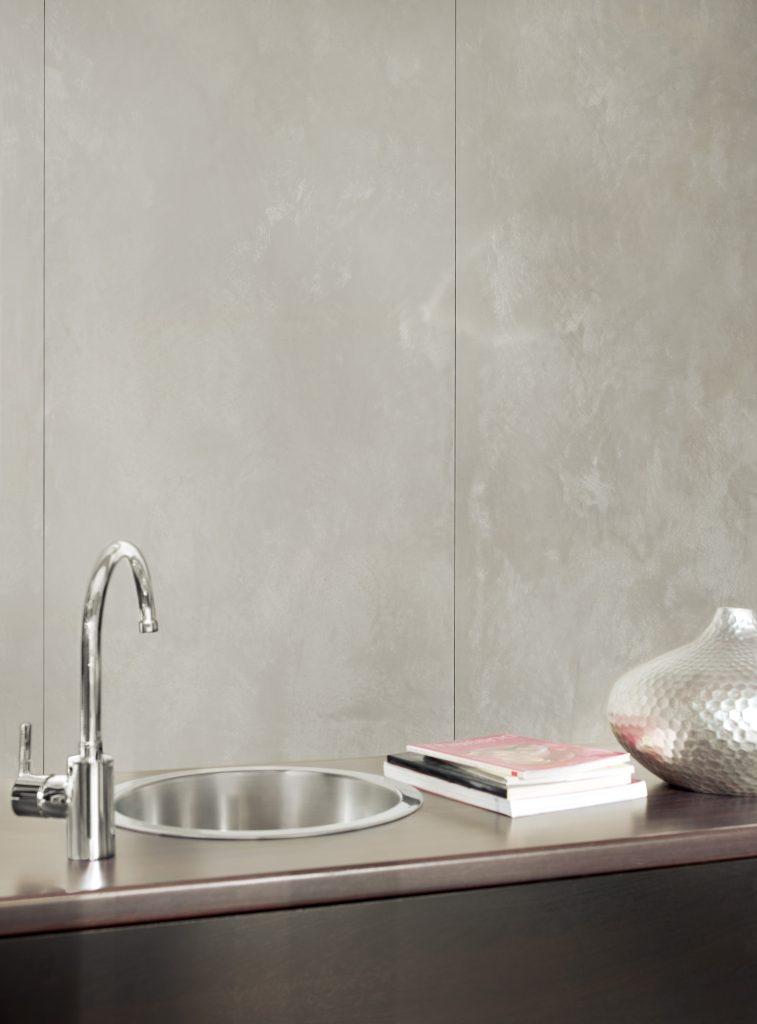 im trend mit betonoptik zur modernen exklusiven wand trebes raumausstattung. Black Bedroom Furniture Sets. Home Design Ideas