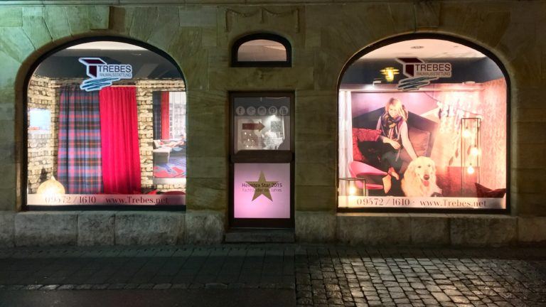 Unsere Schaufenster in der Bahnhofsstraße in Lichtenfels - immer neue Trends und Wohnideen