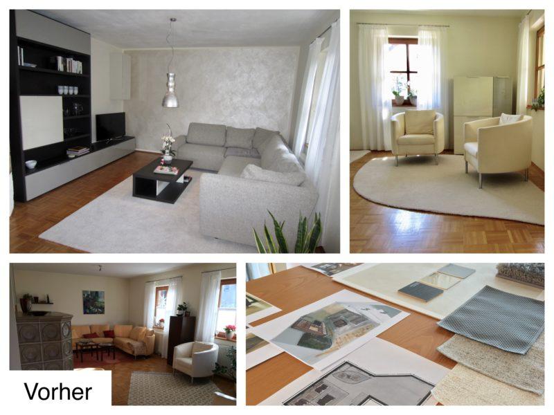 Unsere Wohnraumplanung: ein stimmiges Konzept mit Farbskizzen, Einrichtungsplanung und passenden Originalmustern zum anfassen und kombinieren