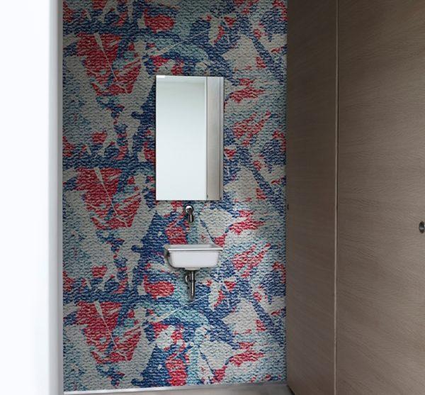 Mut zum Muster: wer kein langweiliges Badezimmer möchte kann mit unseren Tapeten einen Hingucker setzen.