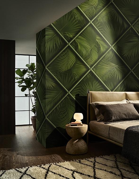 Natürliche Oberflächen und Stile sorgen für ein besonderes Wohngefühl zuhause. Vor allem die Kombination von Grün mit sandigen und erdigen Tönen wirkt beruhigend.