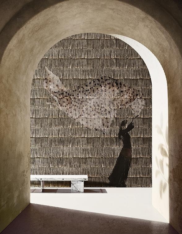 Zum Träumen lädt dieses Motiv ein. Durch ein dezentes Muster im Hintergrund wird jede Wand belebt.