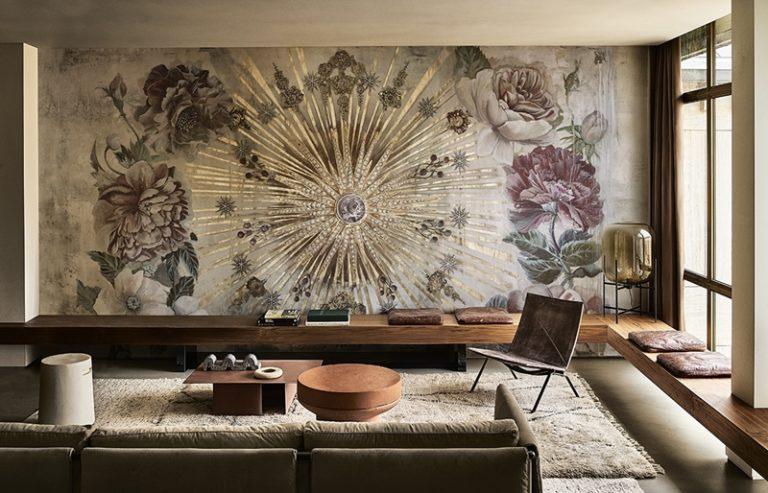 Wunderschöne italienische Designtapete für moderne und klassische Wohnzimmer.
