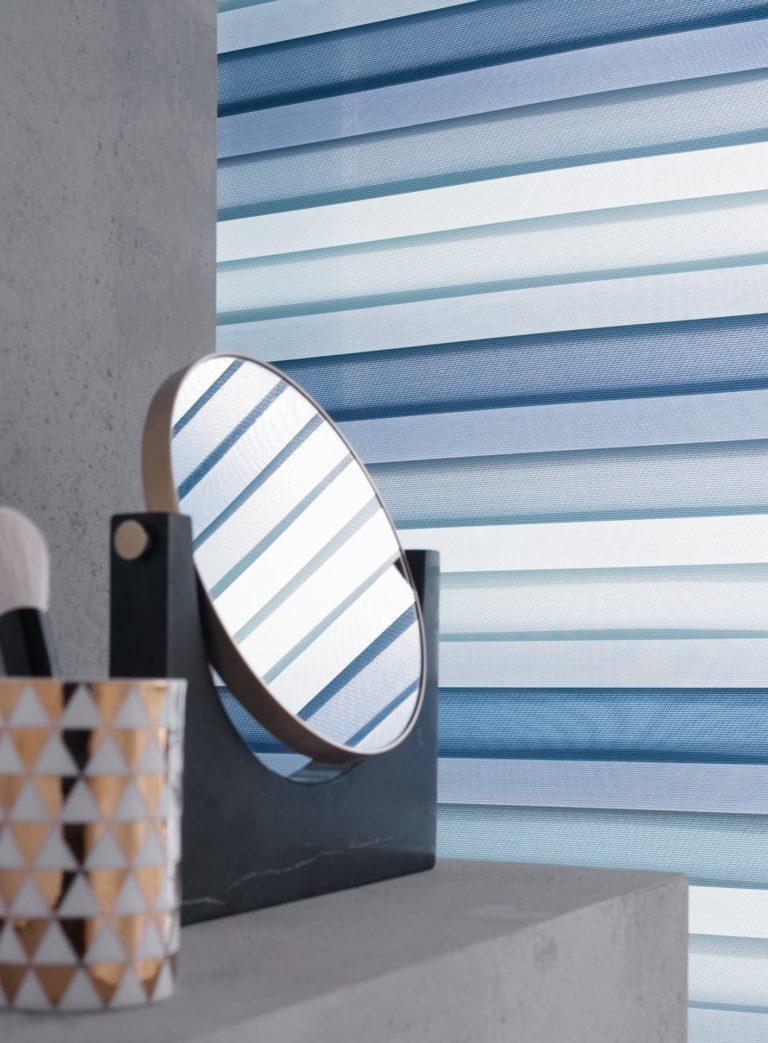 Doppelrollo tri color jab Anstoetz Trebes Raumausstattung Sonnenschutz Sichtschutz