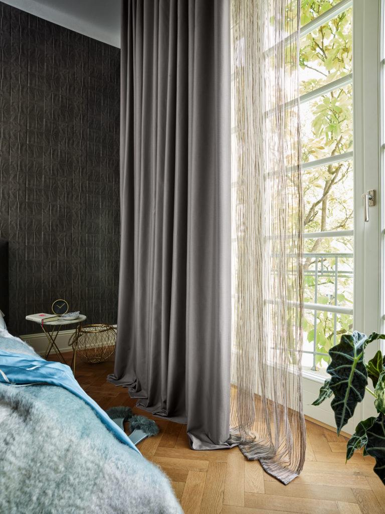 Ado Goldkante Thermo Vorhang Trebes Raumausstattung Schlafzimmer